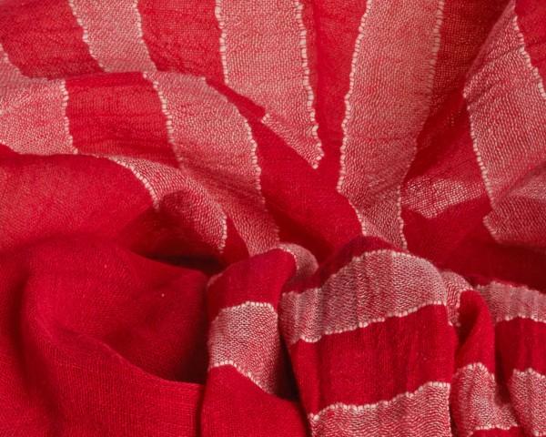 Schal Desta aus 100% Baumwolle rot/lava