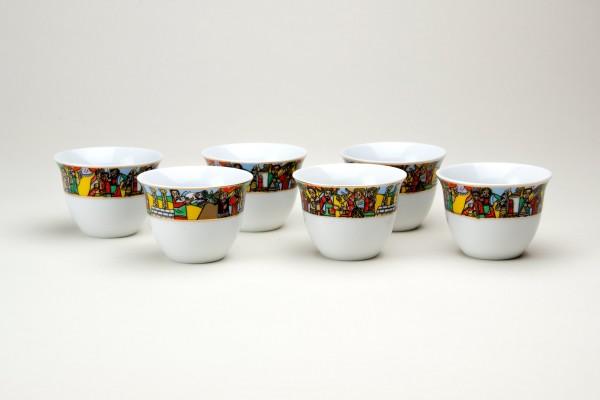 Set aus 6 Espressotassen