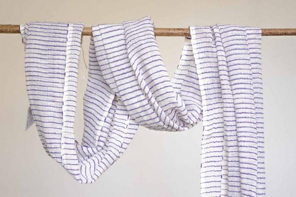 Judith Schal aus 100% Baumwolle - lila-grün-weiss-Copy