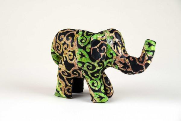 Stoffelefant grün