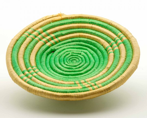 Schale, Kreise, grün-gold