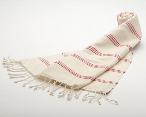 Awash Hand/Geschirrtuch aus 100% Baumwolle - rote streifen