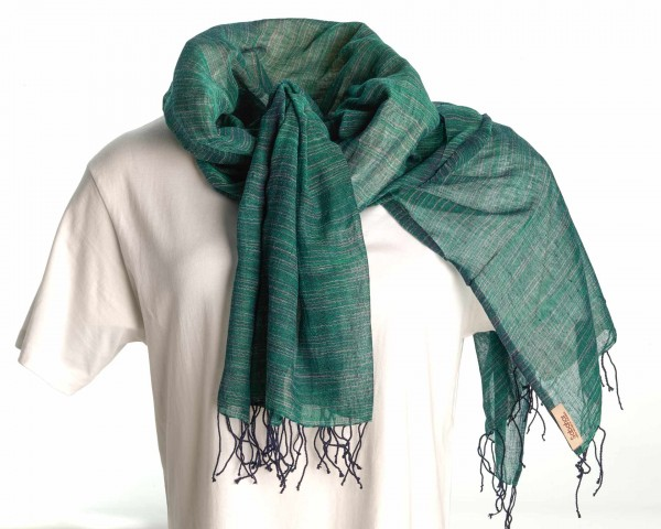 Yeshi Schal aus 100% Baumwolle - grün