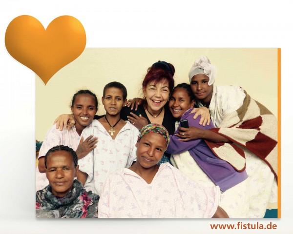 Geschenk Aktion - Kleid, Nachthemd und Bettwäsche für Patientin