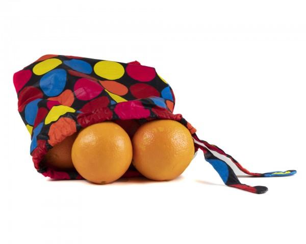 Obst, Gemüse oder Brotbeutel - Streifenmuster- Punkte