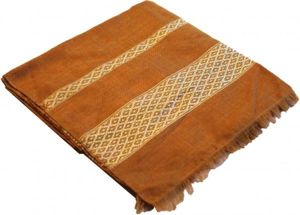 Camelbraun mit goldener Einwebung, Klassischer Schal