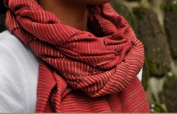 Deborah Schal aus 100% Baumwolle - rot