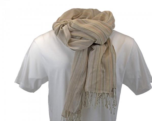 Streifen Schal - 100% Baumwolle